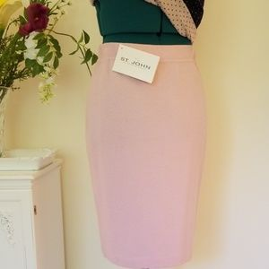 St. John Collection Knit Skirt and Top